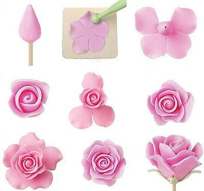 Fondant Cake Sugarcraft Rose Flower Decoration Cookie Mold Paste Gum Cutter Tool