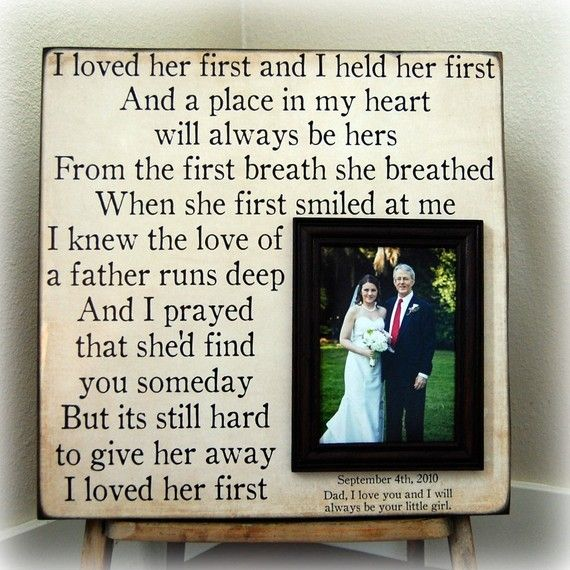 Wedding Gift Father Daughter : ... Daughter In Law Ideas