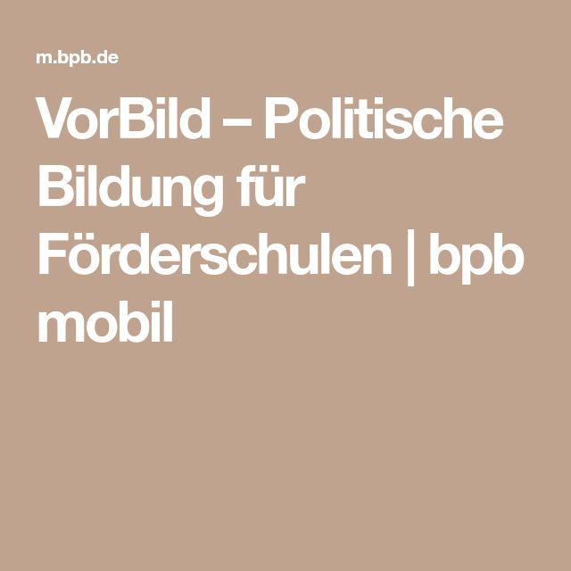 VorBild – Politische Bildung für Förderschulen | bpb mobil