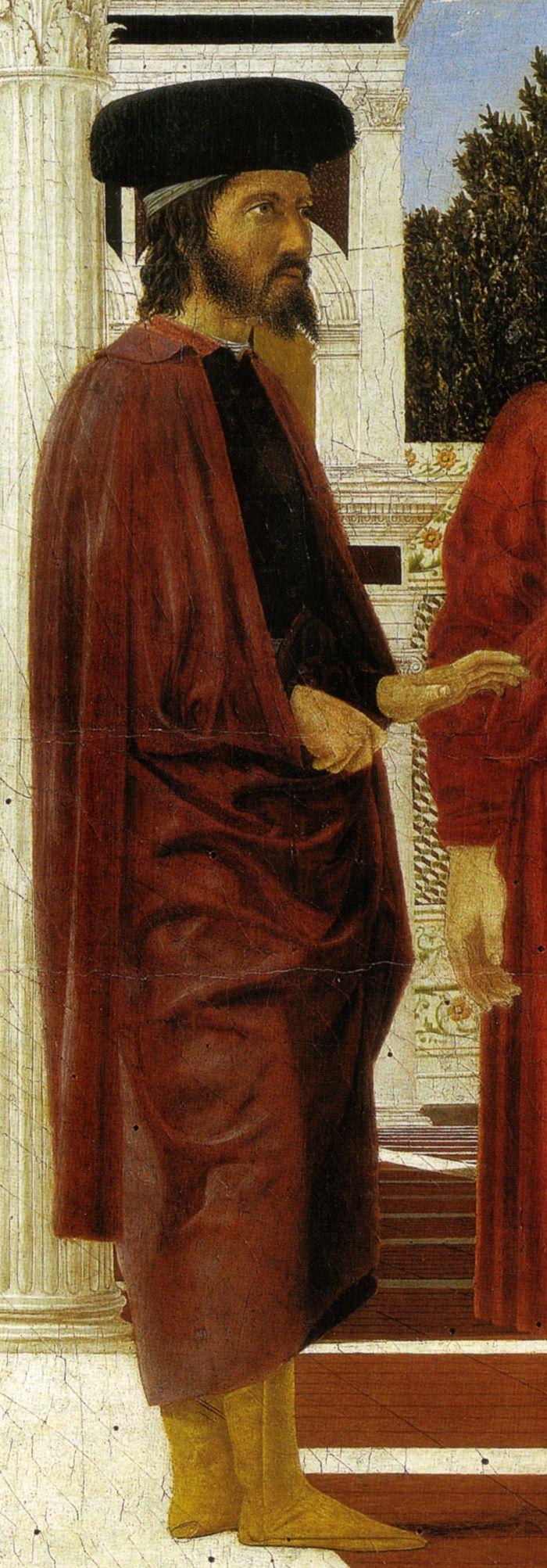 Piero della Francesca, Flagellazione di Cristo (dettaglio, Bessarione, il fratello dell'Imperatore bizantino),  XV sec.