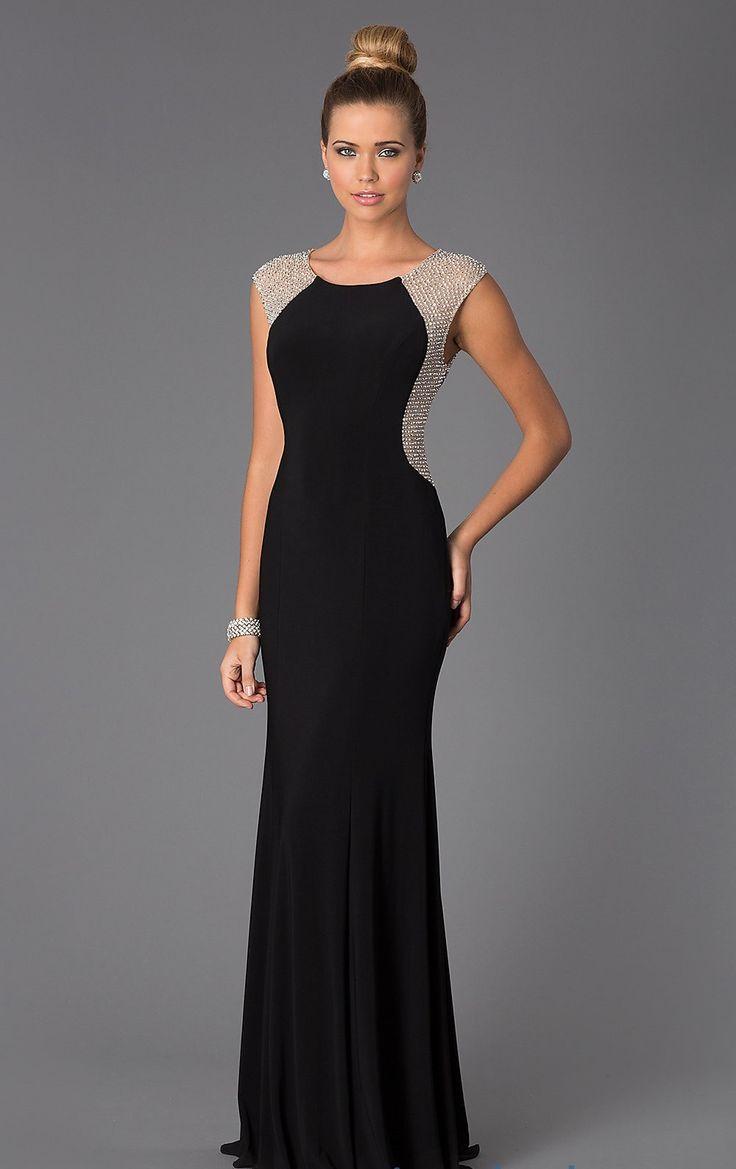 LS027 robe de soiree sirene beaded mermaid long black evening dress vestido noche women evening dresses 2015 long celebrity