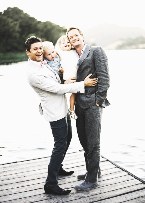 Neil Patrick Harris and David Burtka // perfect family