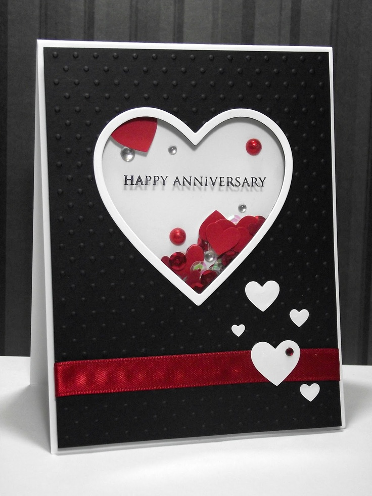 my inky corner Shaker anniversary card Wedding