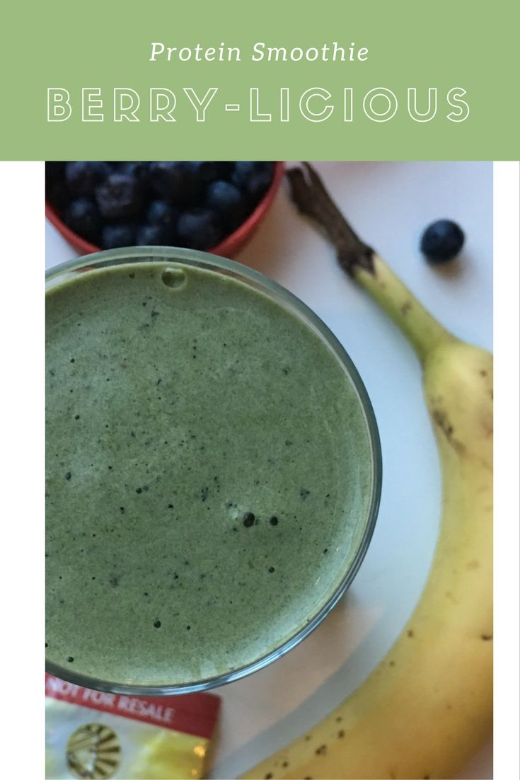 Bold blueberry, organic spinach, sweet banana and smooth vanilla  protein powder for the perfect powerhouse breakfast! Smoothies — Kraving Health