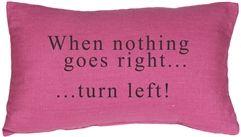 When Nothing Goes Right Throw Pillow  #PinkDecor #Inlovewithpink #Girl #InteriorDesign #pillowdecorcom
