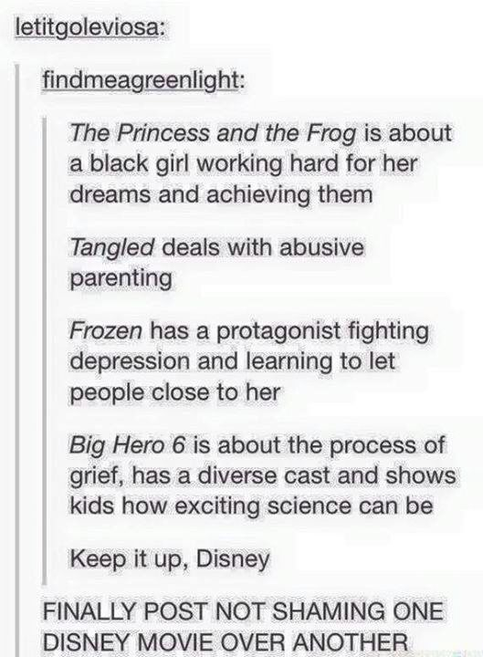 For real, I'm sick of people finding something wrong with every Disney movie that comes out.