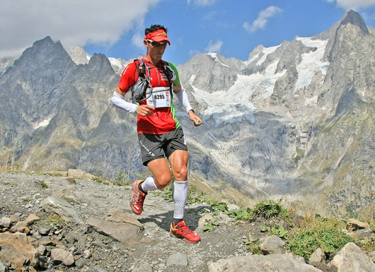 the Ultra-Trail (100 miles) du Mont-Blanc between France, Italy, and Switzerland