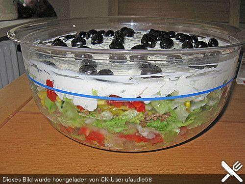 Uschis griechischer Schichtsalat, ein beliebtes Rezept aus der Kategorie Fleisch & Wurst. Bewertungen: 48. Durchschnitt: Ø 4,4.