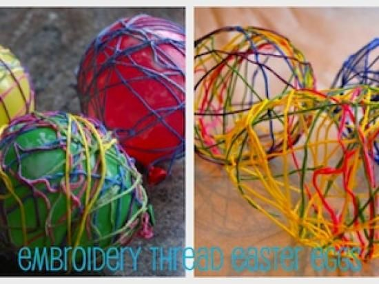 Embroidery thread easter eggs and on pinterest