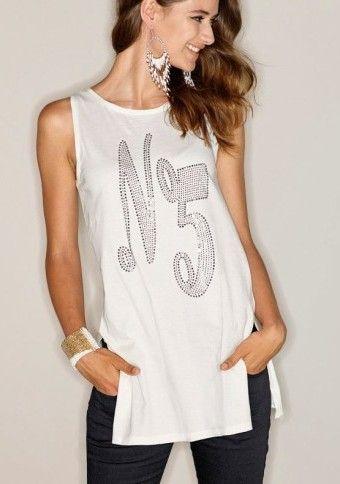 Top se štrasem a rozparky ideální na párty ;) #modino_cz #modino_style #fashion #style #top #móda #ModinoCZ