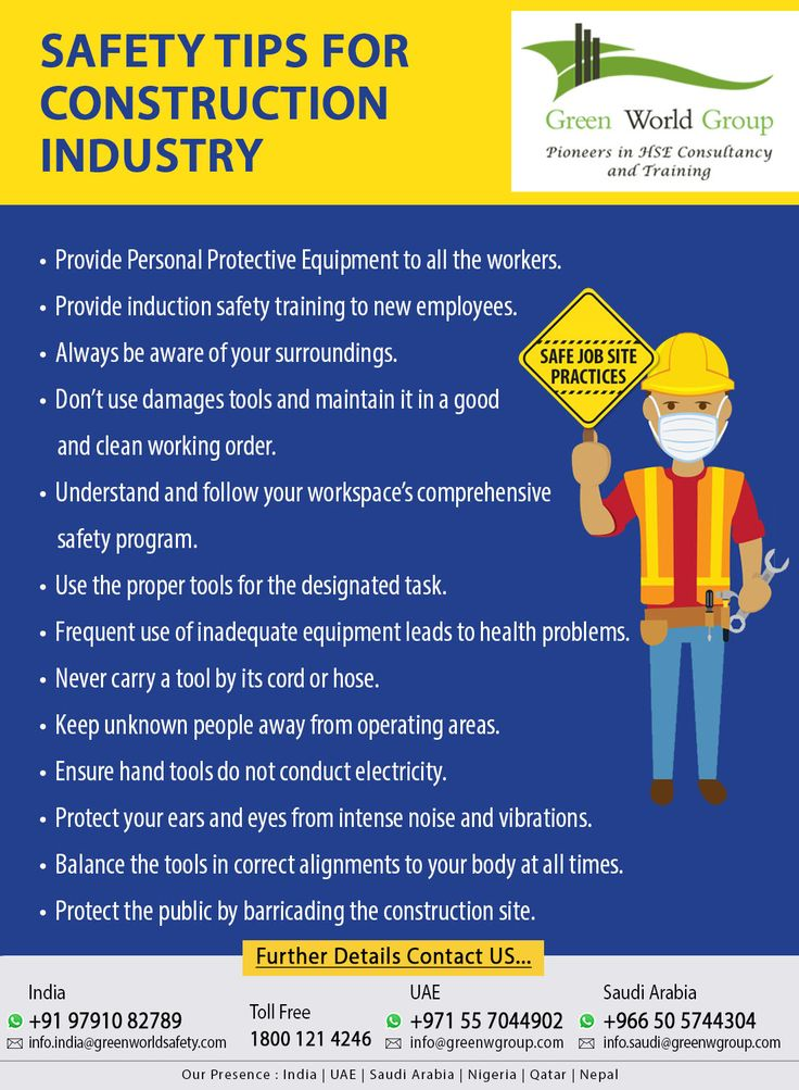 Pin on Safety Tips For Construction Industry