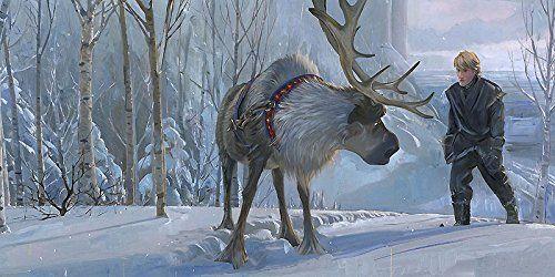 Frozen Epic Journey Sven Kristoff Jim Salvati LE 95 15x30 Canvas Signed NEW Giclee Disney @ niftywarehouse.com #NiftyWarehouse #Frozen #FrozenMovie #Animated #Movies #Kids