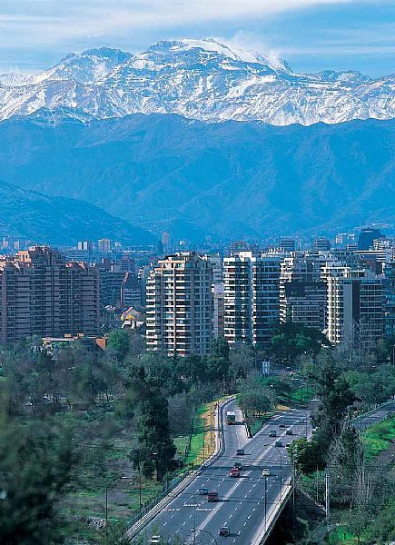 Santiago de Chile.  Vista of Kennedy Ave.