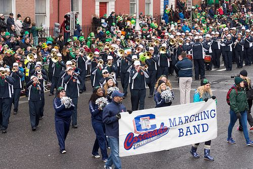 CORONADO HIGH SCHOOL MARCHING BAND AT THE 2015 DUBLIN ST. PATRICK'S DAY PARADE-102336 [The Streets Of Ireland]