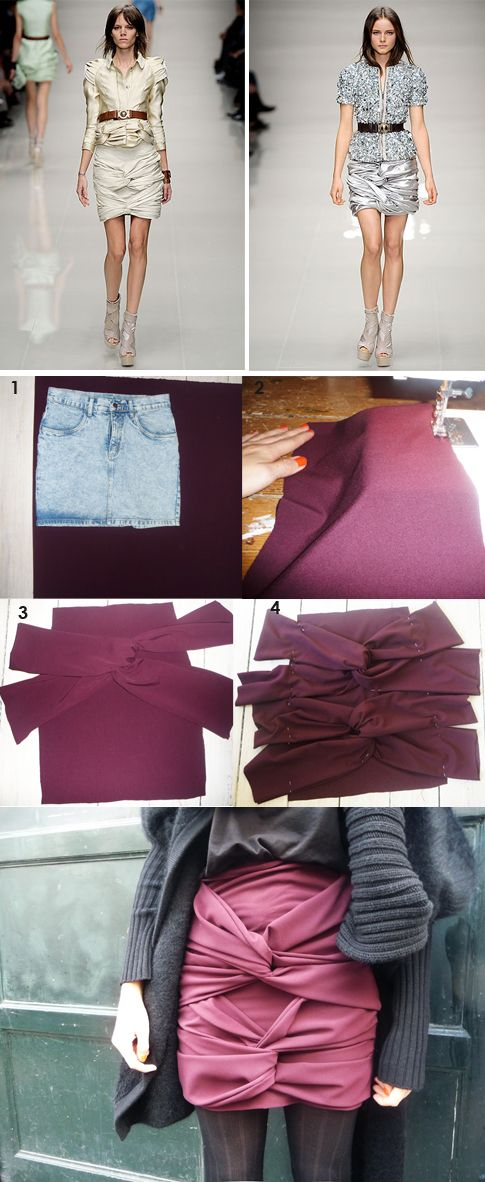 DIY Draped Skirt