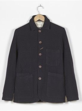 Universal Works Bakers Jacket in Navy Soft Wool £195