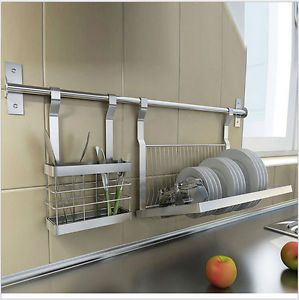Stainless Steel Kitchen Storage Shelves Knive/drill Plate/dish Rack Hanger  2016