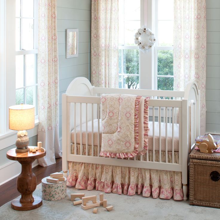 Juliet Girl Crib Bedding Set by Carousel Designs.