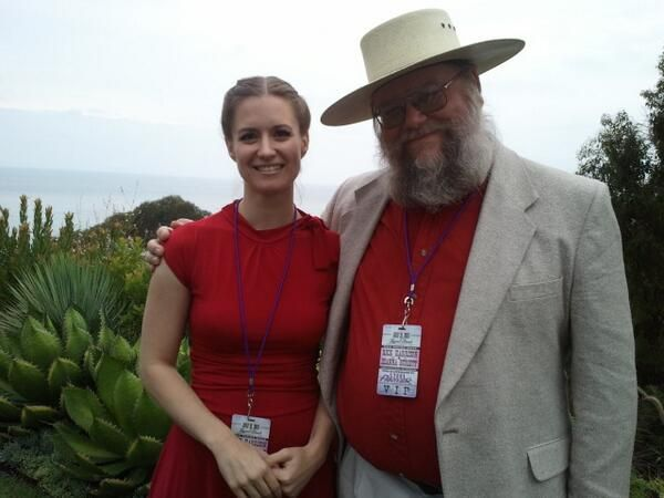 Rebecca Romney of Pawn Stars with Mark, the Beard of Knowledge