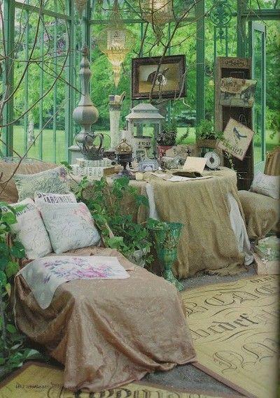 A cottage style sunroom, like living outdoors