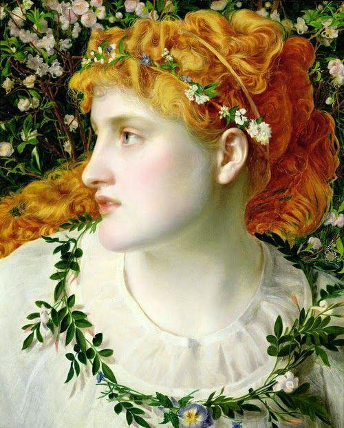 Pre Raphaelite Art: Anthony Frederick Augustus Sandys - Perdita (1866)