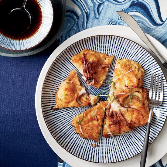 Korean Seafood Pancakes