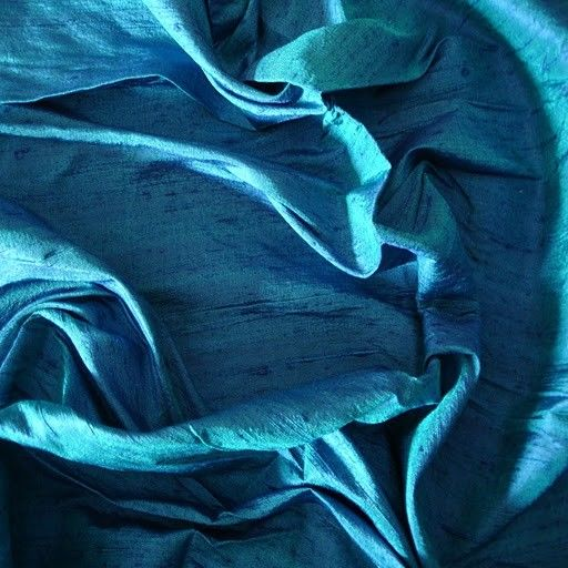 Blue And Turquoise 100 Percent Pure Silk Dupioni Fabric Decorative Wholesale Silk Fabric Raw Silk Fabric Indian Silk Fabric By The Yard