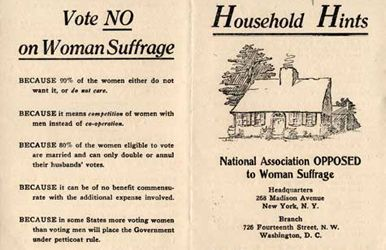 Bizarre reasons why women were not allowed to vote. ~ The Atlantic