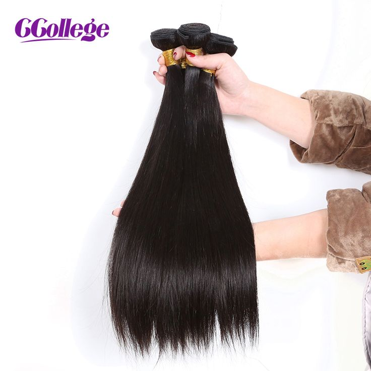 "==> [Free Shipping] Buy Best CCollege Peruvian Straight Hair Human Hair Bundles Double Weft 1 Pcs Remy Hair Extensions Natural Black 8""-28 Online with LOWEST Price 