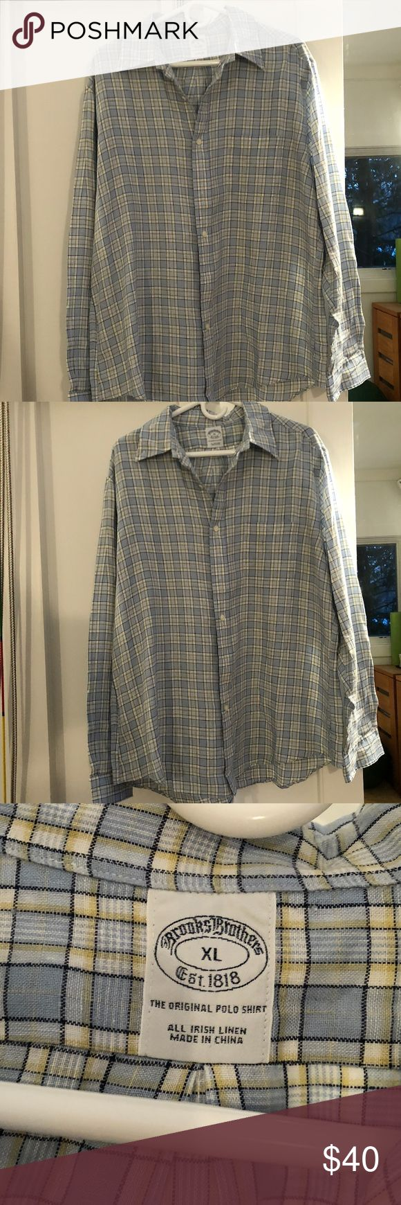 Brooks Brothers The Original Polo Button Up Shirt Perfect condition button up checkered dress shirt. Brooks Brothers Shirts Dress Shirts