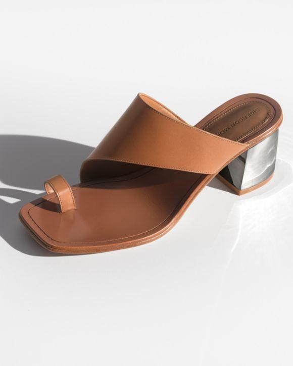 Sigerson Morrison Women's Marcel Leather Block Heel Sandals