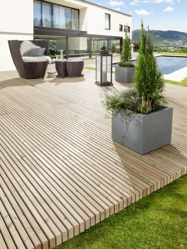 760 best Jardin images on Pinterest Gardening, Balconies and Decks - poser terrasse bois sur herbe
