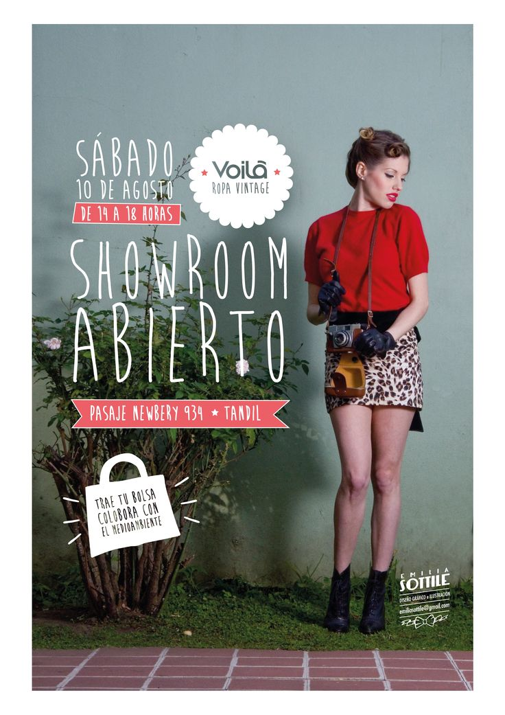 Flyer Sale vintage clothing by Emilia Sottile