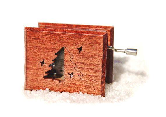 Personalized christmas gift christmas music box wooden box - O, Tannenbaum - Oh, Christmas Tree