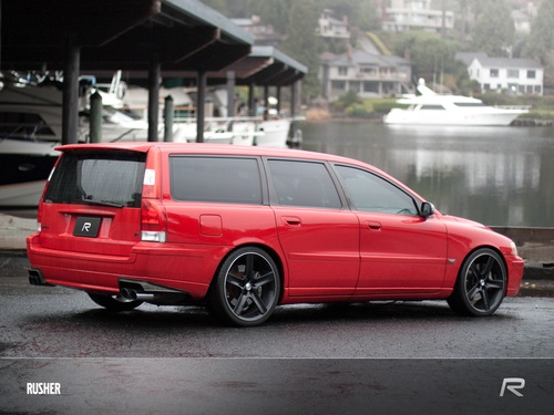 Volvo V70 R. Nice looking little red wagon.