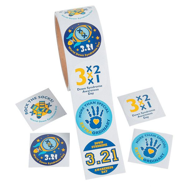 Show your support for your wonderful, unique friends and family on World Down Syndrome Day! Great classroom giveaways to teach students love and sensitivity, these stickers are also great for fundrais