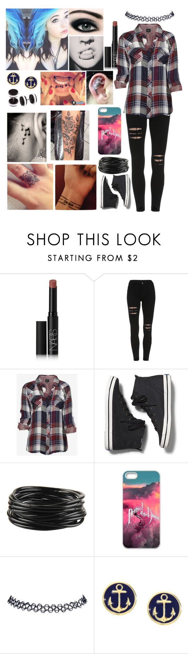 """""""We don't play by the rules"""" by emmcg915 ❤ liked on Polyvore featuring NARS Cosmetics, Rails, Keds, Forever 21, Wet Seal and Brooks Brothers"""