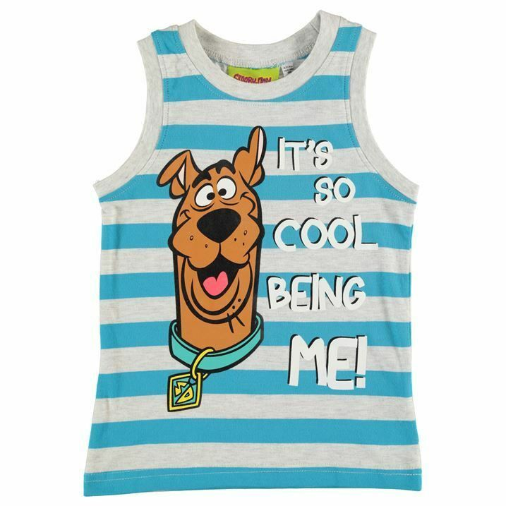 SCOOBY DOO:MYSTERY DESIGN VEST//SLEEVELESS T,3//4,4//5,5//6,7//8,NEW WITH TAGS