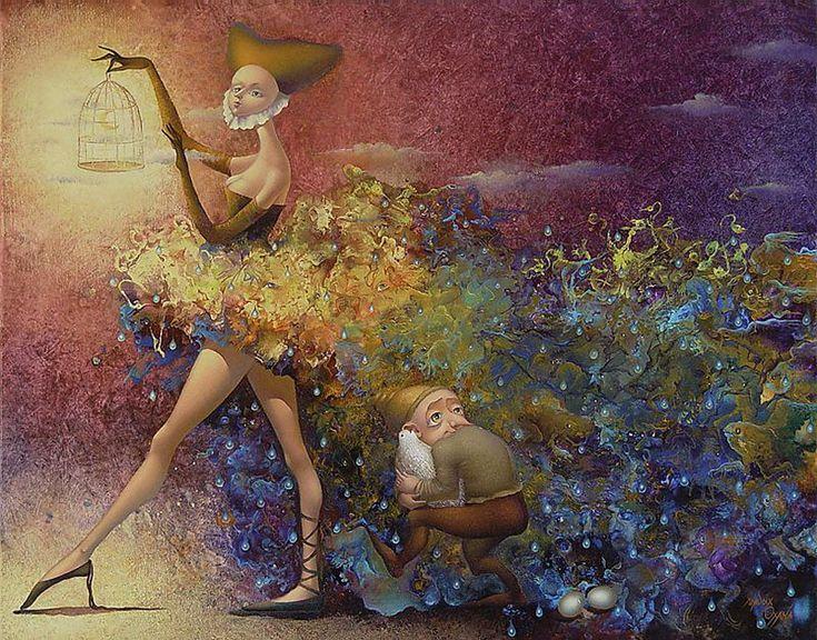 Artista francese nato in Ukraina, nato nel 1966.   Le opere di Oksana ci portano in un paesaggio fiabesco, irreale.Con i suoi dipin...