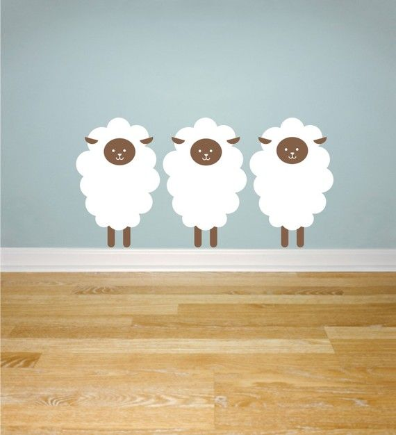 Sheep Wall Decals by greywolfgraphics on Etsy, $18.00  @Katie Browne