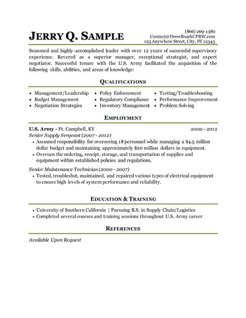 resume examples excellent army within builder military resumes sle infantry