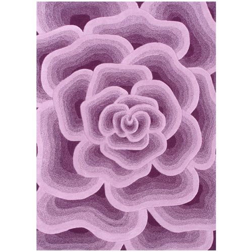purple childrens rug   Rose Rug in Purple