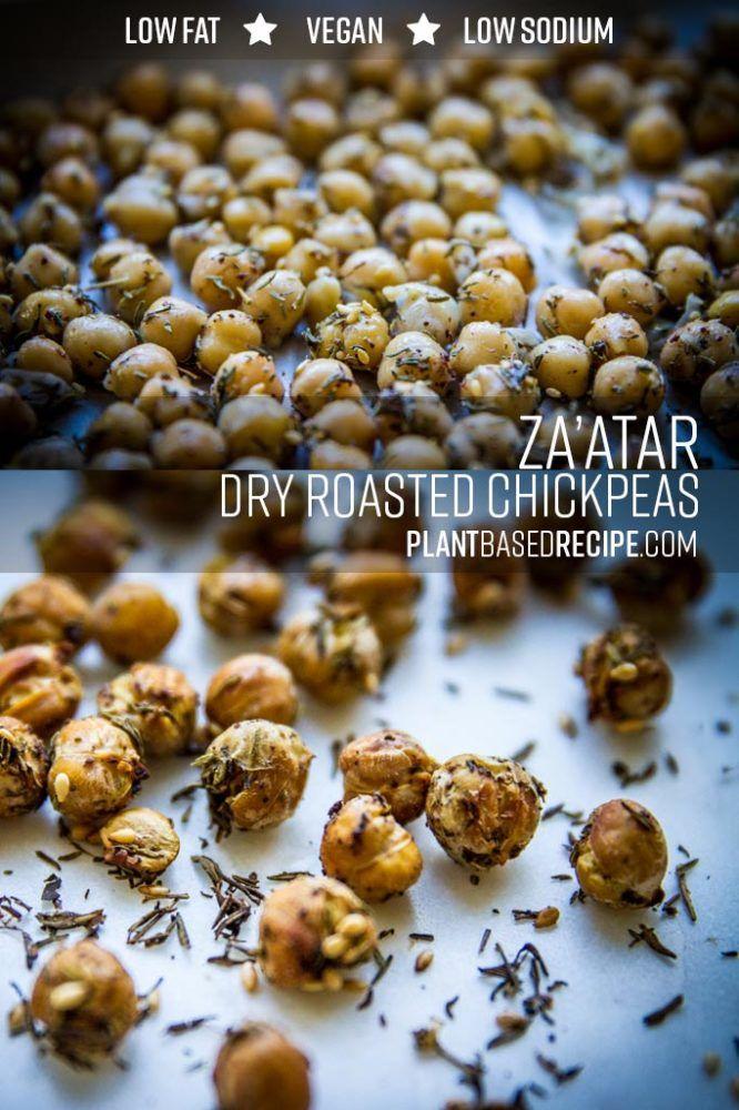Dry Baked Zaatar Chickpeas No Oil Vegan