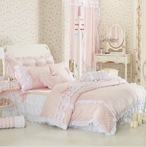 Romantic American Country Style Girls Vintage Floral Bedding