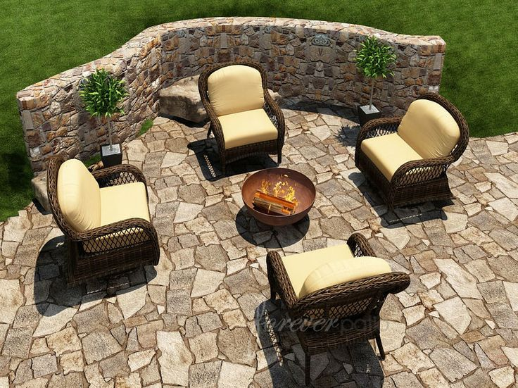 Forever Patio Leona 4 Seat Lounging Set