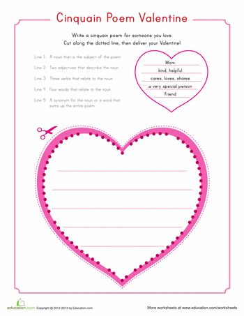 Read write and think shape poems templates
