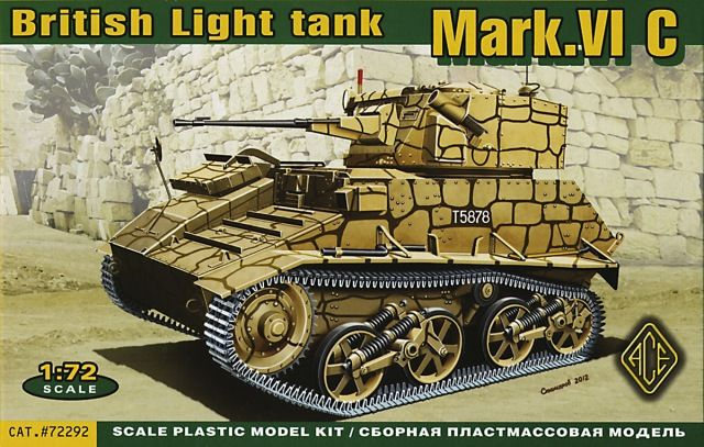 Vickers Mark.VIC, British Light Tank. Ace, 1/72, rebox 2014 (ex Ace 2012 No.72291, updated / new parts), No.72292. Price: 12,22 EUR (marketplace).