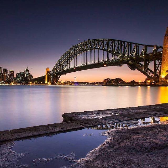 Harbour Bridge perfectly. 💜