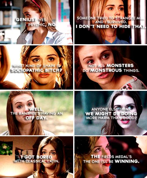 #TeenWolf - The Best quotes of Lydia Martin