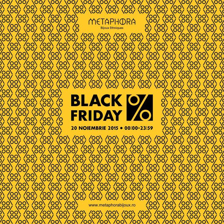 #blackfriday la #metaphora  Doar astăzi până la miezul nopții! Reduceri între 10% și 30%.  Fetelor, nu ratați ocazia să vă umpleți caseta cu bijuterii!